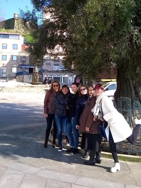 Na Reconquista de Vigo coas alumnas do Curso de Español